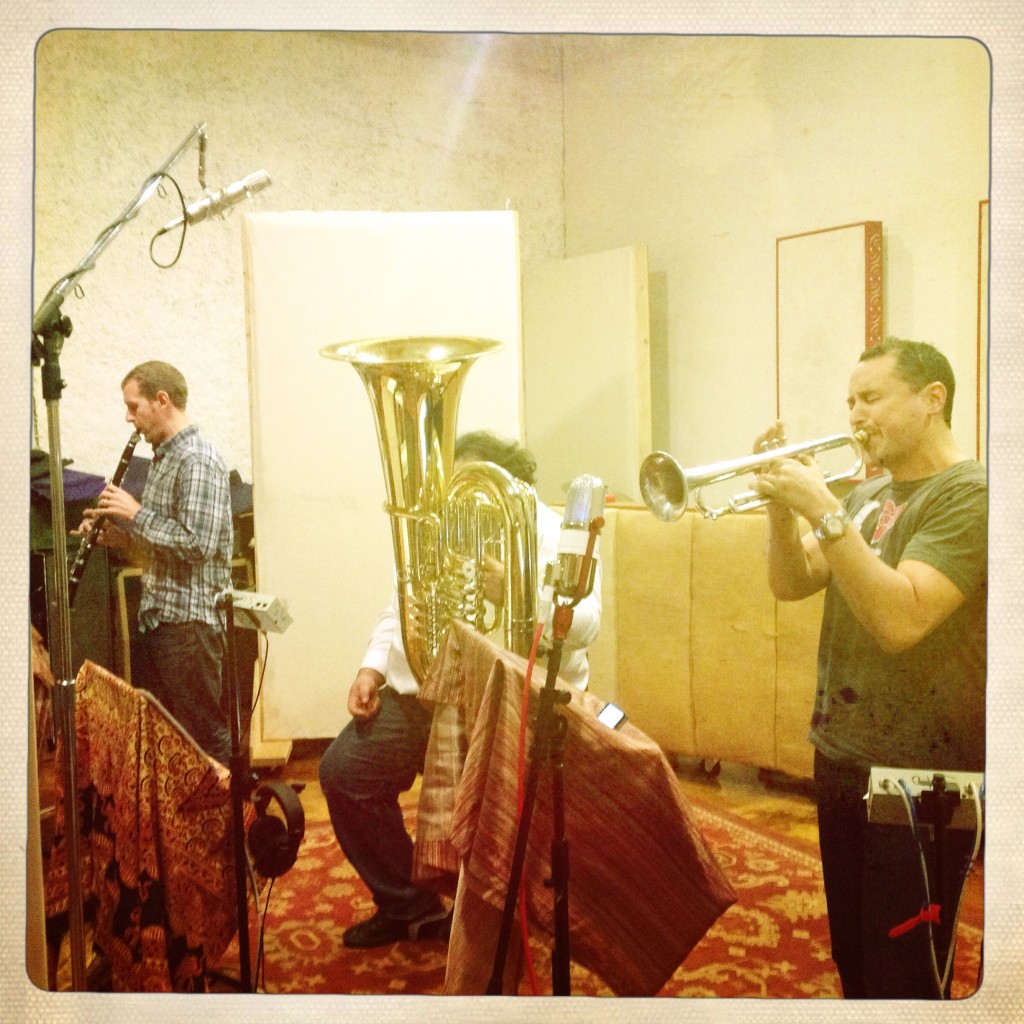 Tracking horns at Silo Sound, Denver